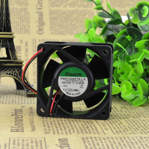 New in original box 6025 6CM double ball bearing fan 12V 3.9W PMD1206PTB1-A tachometer