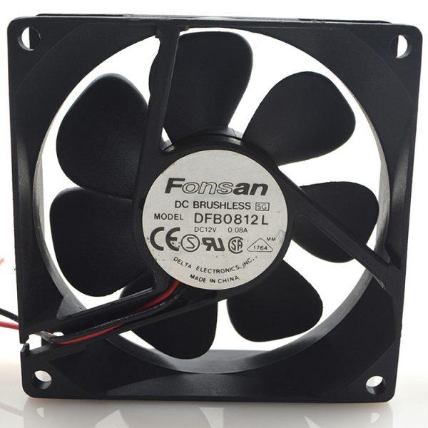 New original 8025 12V 0.08A 8CM DFB0812L ultra-quiet 2-wire power supply computer chassis fan