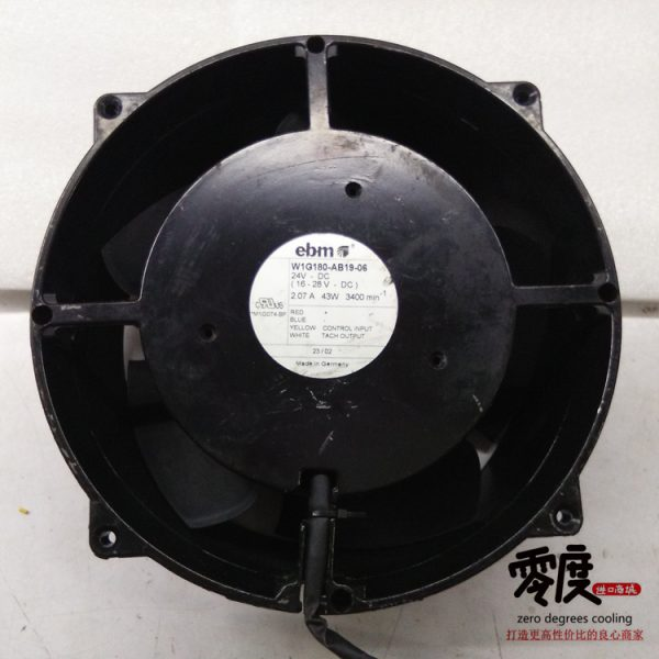 Original EBM PAPST W1G180-AB19-06 24V 2.07A 43W 200*200*70MM cooling fan