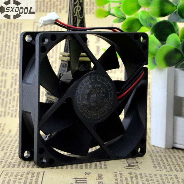 SXDOOL 8025 CPU cooling fan D80SM-24 24V 0.14A inverter server fans