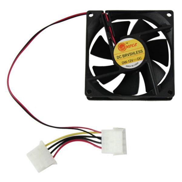 Hot sale 80mm Fan PC CPU cooler Fan 4Pin Computer Cooler 12V 8CM PC CPU cooler Quiet Cooler Fan for video card Drop shipping