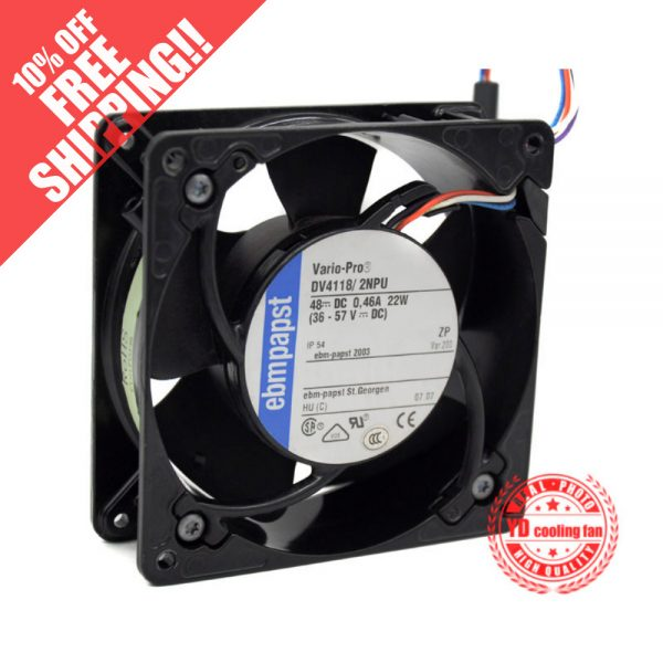 NEW FOR EBMPAPST DV4118/2NPU 12038 48V IP55 waterproof 12CM cooling fan