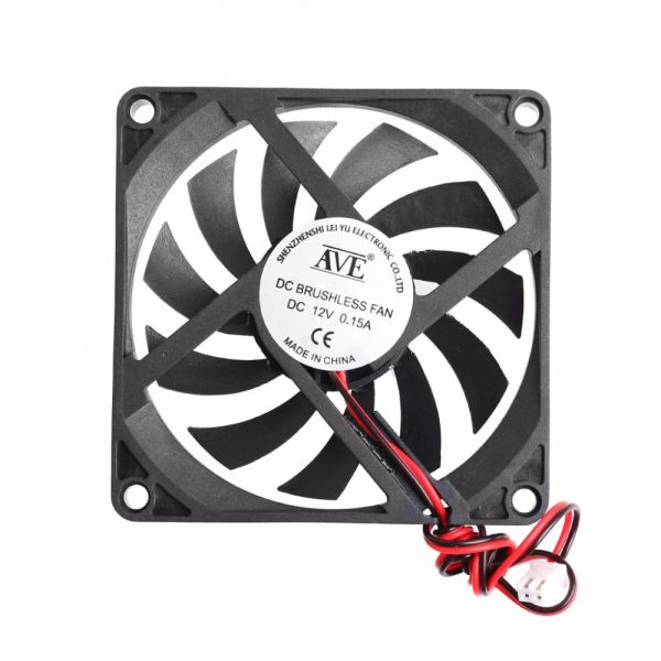 12V 2-Pin 80x80x10mm PC Computer CPU System Heatsink Brushless Cooling Fan 8010 New Drop shipping-PC Friend