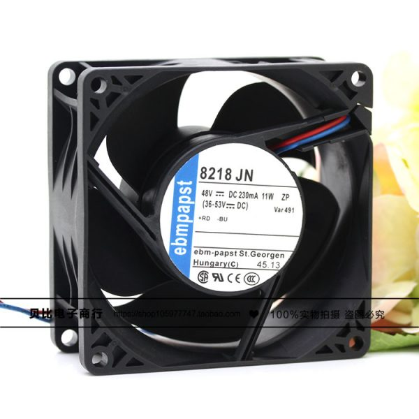 ebm-papst 8218 JN 8218JN DC 48V 11W 80x80x38mm 2-wire Server Square Fan
