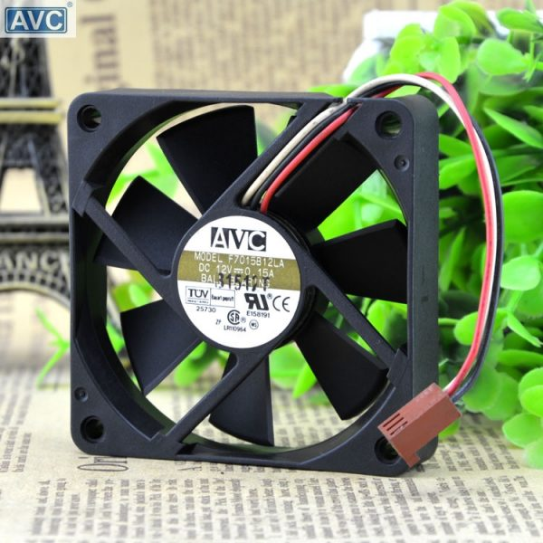 Original AVC 7015 F7015B12LA 12V 0.15A cpu cooling fan ball 70 * 70 * 15MM