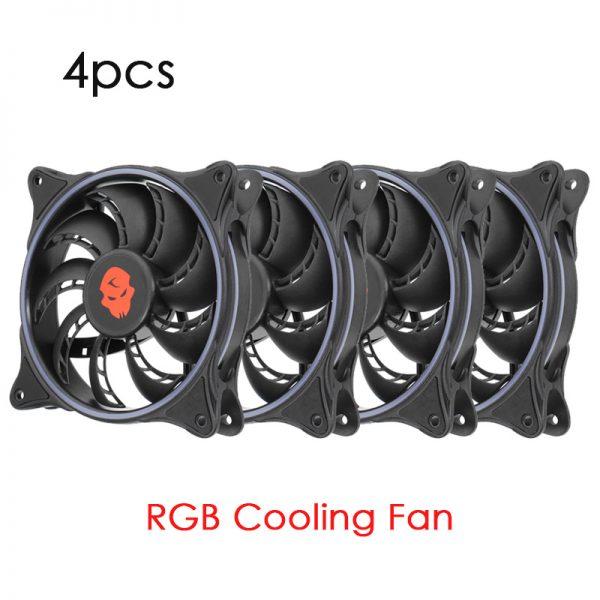 1/4/6pcs RGB 120mm CPU Cooler 12V DC 3Pin CPU Cooling Fans Silent Radiator Heat Sinks PC Air Fan for Intel LGA 775/1155 AMD CPU