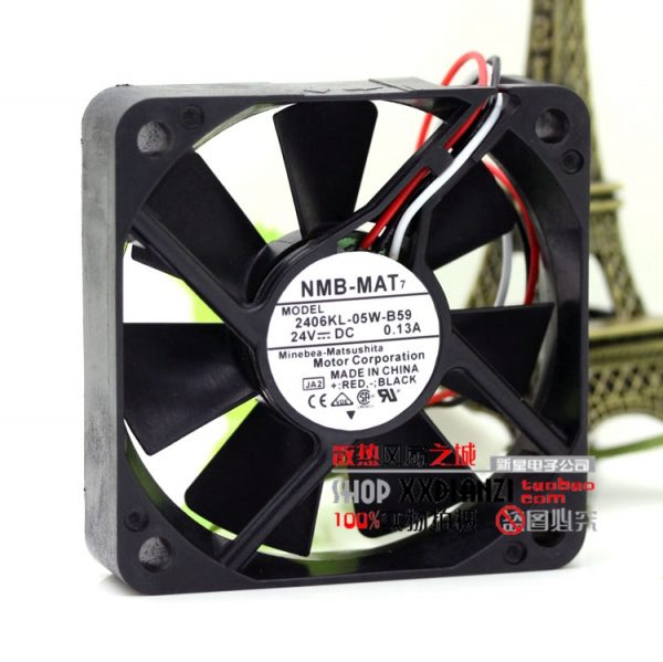 Free Delivery.Original 24V 0.13A 2406KL-05W-B59 6015 6CM 3 wire inverter cooling fan