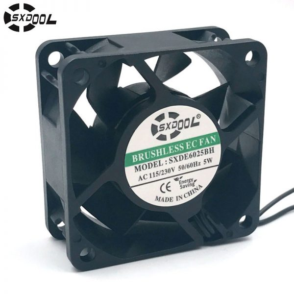 SXDOOL SXDE6025HB Cooling fan 110V 115V 220V 230V 6025 60mm 60*60*25mm 5W 5500RPM 25.2CFM powerful cooler small size