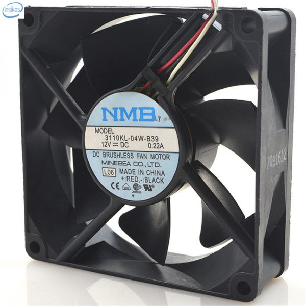 Original 3110KL-04W-B39 Computer Blower Cooling Axial Fan DC 12V 0.22A 2.04W 8025 80*80*25mm 2700RPM 3 Wires