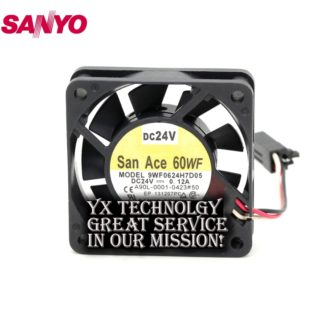SANYO New Waterproof 9WF0624H7D05 6015 24V A06B-6134-K003 fan for 60*60*15mm