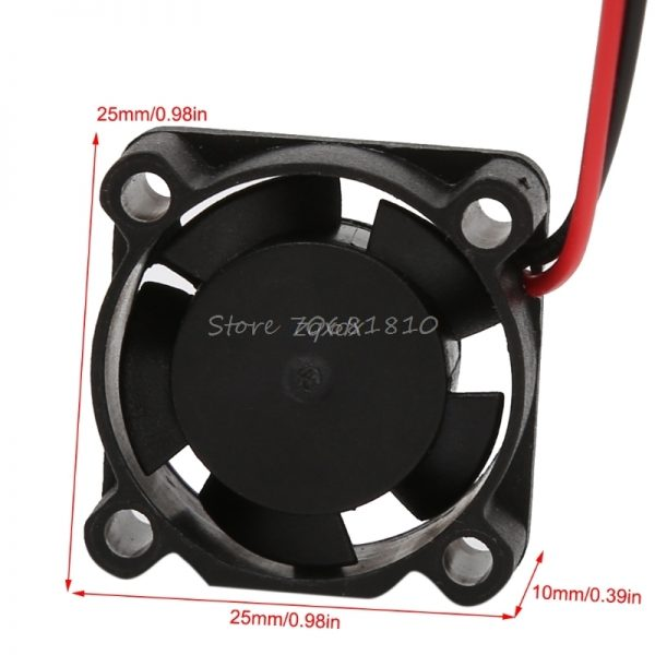 Mini DC 12V Brushless Cooling Fan 25mm 25*25x10mm 2510S Cooler Heatsink 2510 Z17 Drop ship