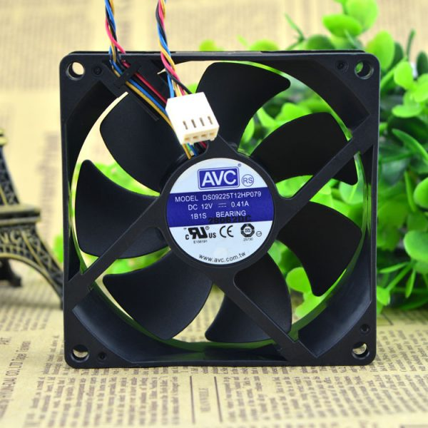 Original AVC DS09225T12HP079 DC 12V 0.41A 9025 4-wires PWM CPU large air flow cooling fan