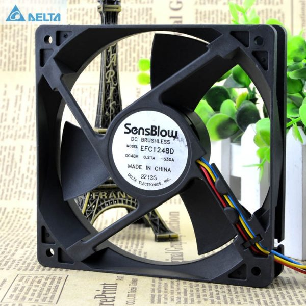 Delta EFC1248D 12025 48V 0.21A 4 wire PWM fan For Huawei switches