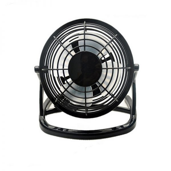 USB Mini Fan Powered Notebook Desktop Cooling Fan Cooler Plastic Air Conditioning Appliances For PC Laptop Computer Black 4 Inch
