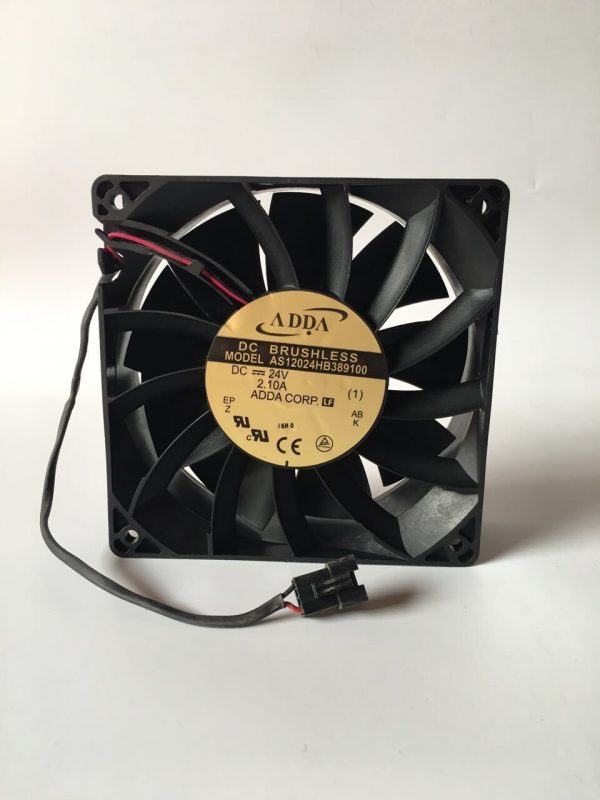 Original ADDA AS12024HB389100 12038 DC24V 2.1A 120 * 120 * 38mm Cooling Double Ball Fan