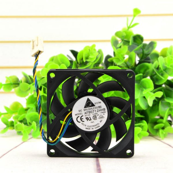 New original AFB0712HHB 12V 0.45A 7015 7CM 4-pin PWM temperature control cooling fan