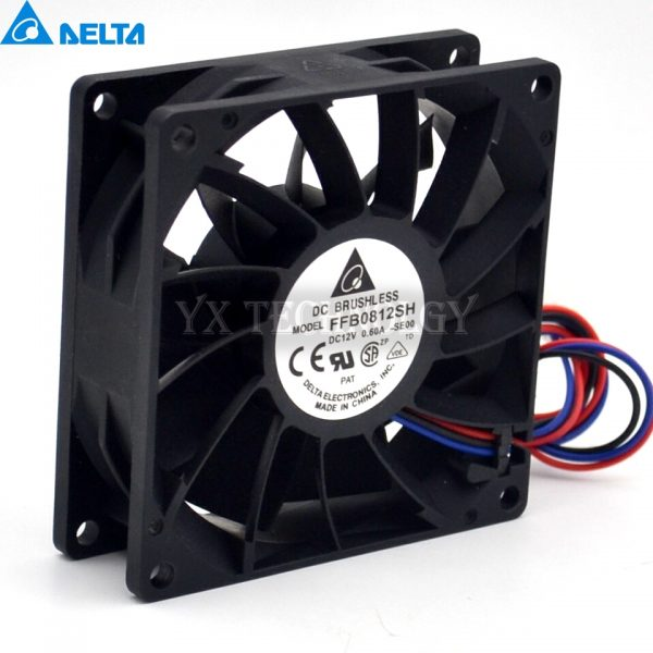 Delta New and original inverter fan FFB0812SH 8025 12V big fan pressure 80*80*25mm