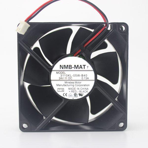 Original 3110KL-05W-B40 8025 8CM 24V 0.13A chassis inverter cooling fan