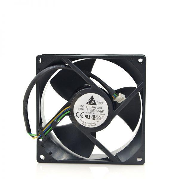 New original 9032 12V 0.57A EFB0912VHF 9CM large air fan PWM intelligent speed control