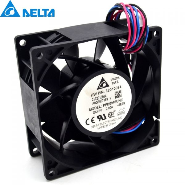 90*90*38mm 3-wire PFB0948UHE 9038 48V 0.8A wire wind inverter fan for delta