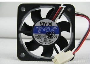 Free ShippingNew original AVC 5cm 5010 12V 0.15A C5010T12MV 50 * 50 * 10MM three lines cpu cooling fan