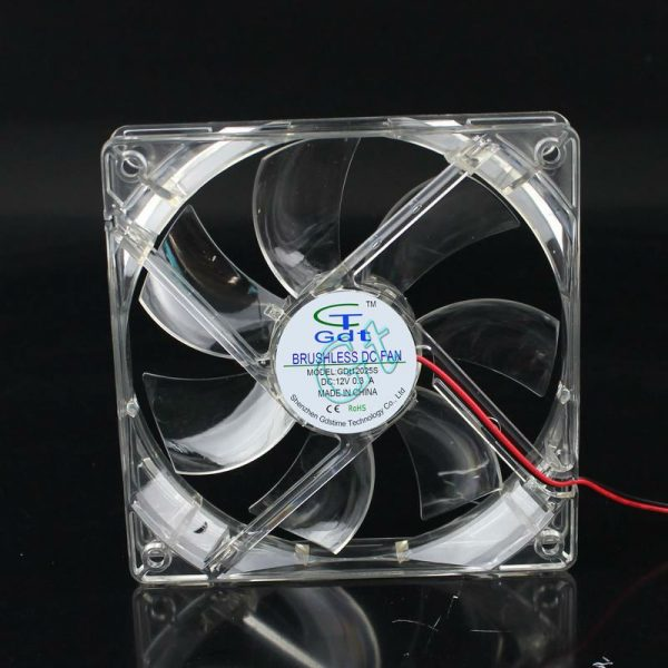 80pcs 12025 DC Computer Case Axial Fan 12v 4 Pin White Light 12CM LED 120x120x25mm Free Shipping