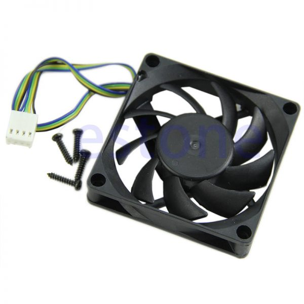 Hydro Bearing 4 Pin 12V DC 70x70x15mm Black Compuer Fan Cooler Brushless Cooling Blower Fan For Computer
