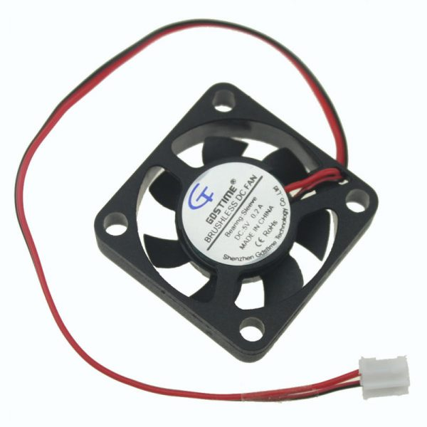 Gdstime 1 Piece 5V 2pin 30x30x7mm 30mm x 7mm Small Equipment Brushless DC Cooling Cooler Fan 2Pin 2.0