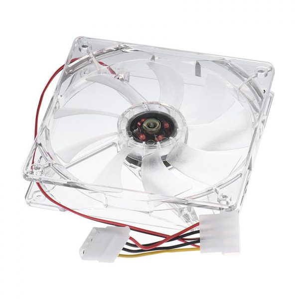 High Performance 12CM 4PIN CPU Cooling Fan Computer PC Clear Case Quad Heatsink White Jan04