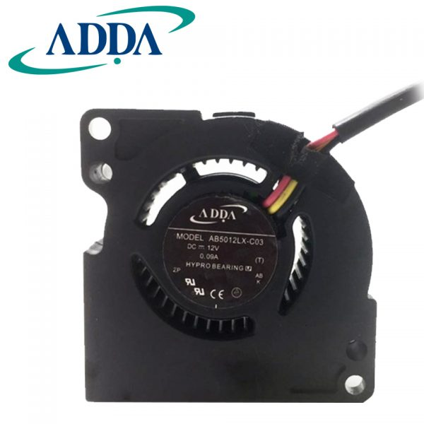 ADDA Original AB5012LX-C03 DC 12V 0.09A 5020 50*50*20mm 3 Wires Cooling Fan For MP510/MP511/MP512/MP520/MP525/MP726