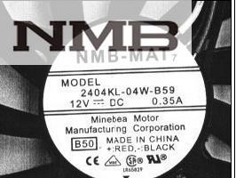 NMB 2404KL-04W-B59 6010 60mm 6cm fan DC 12V 0.35A server inverter cooling fan