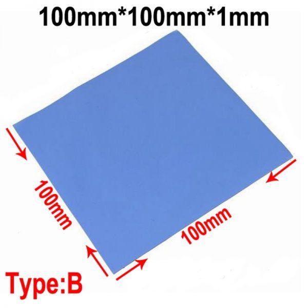 100 Pcs Blue 10mm*10mm*1mm GPU CPU Heatsink Cooling Conductive Silicone Pad Thermal Pad