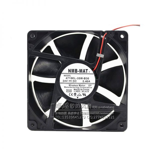 New original 4715KL-05W-B30 12038 24V 0.4A double ball frequency converter fan