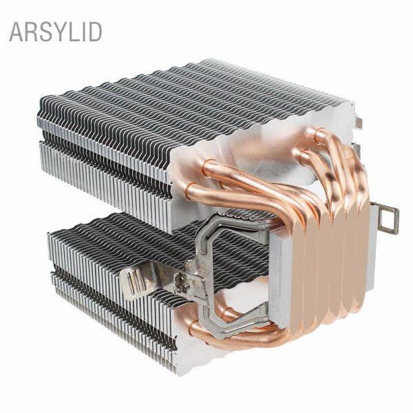 High quality CPU cooler 115X 2011,6 heatpipe dual-tower cooling 9cm fan,support Intel AMD