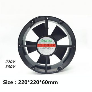 F2E-220B-230 220*220*60mm 220V/380V 0.45A 65W Axial Fan Cabinet Cooling Fan Small Blower