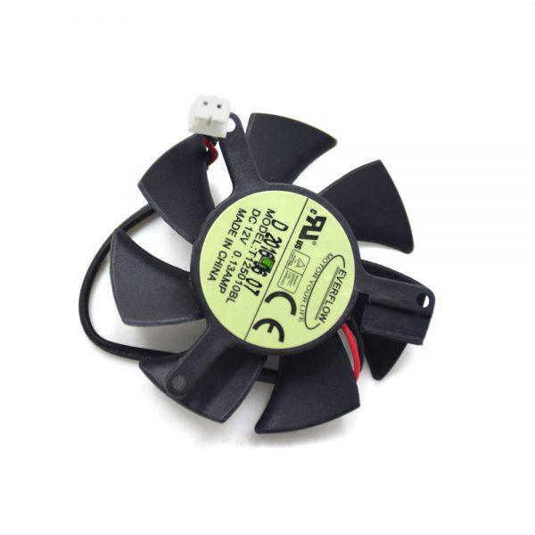New Original 47MM Everflow T125010BL DC 12V 0.13AMP 2.0 2PIN 40MM GV-N620D3 Graphics Card Cooler Fan