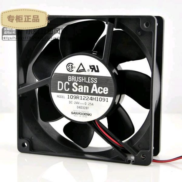 Free Delivery. 109 r1224h1091 24 v 0.25 A original 120 * 2 38 spool flow fan