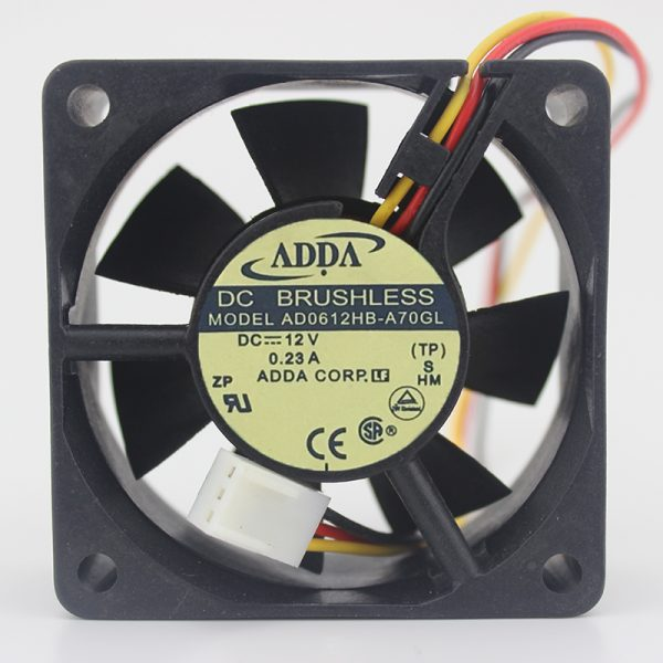 Original AD0612HB-A70GL 6025 6CM 12V 0.23A Power supply cooling fan