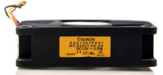 Original SUNON 7020 DC 12V 2.0W KDE1207PKV1 3-wire 7cm Projector Special Cooling Fan