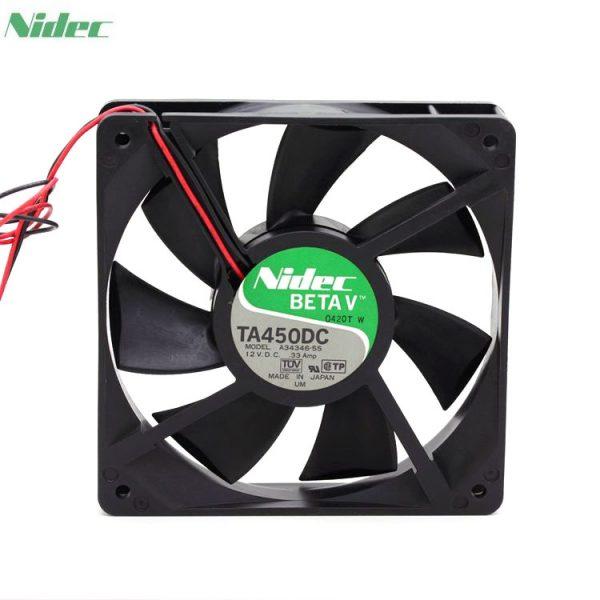 Nidec TA450DC A34346-55 1225 120mm 12*12cm12025 12cm 120*120*25 12VDC 0.33A server inverter cooling fan