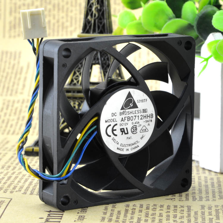 Delta afb0712hhb 0.45a cpu heatsink 70*70*15MM 4PIN cooling fan