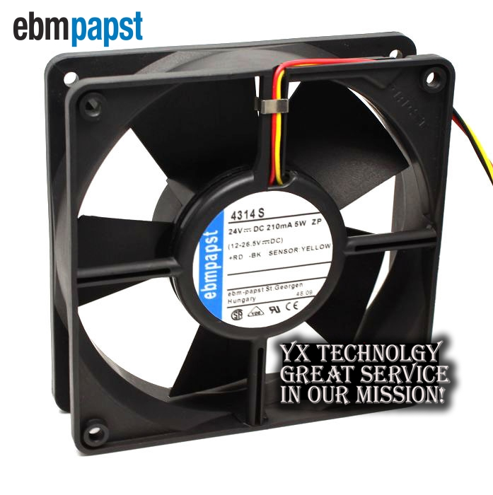 SUNON 120*120*38 KDE1212PMBX-6A 12V 7.6W three line axial flow cabinet cooling fan