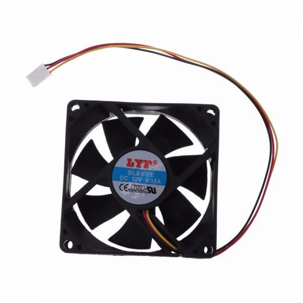 3 pin 80mm x 25mm CPU PC Fan Cooler Heatsink Exhaust