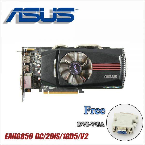 used ASUS Graphics Card Original HD6850 1GB 256Bit GDDR5 Video graphics Cards for ATI Radeon HD 6850 Used Cards HDMI DVI