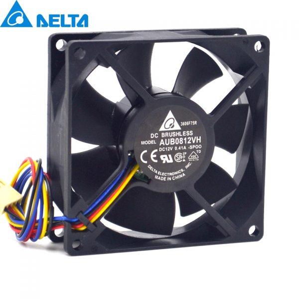 Original Delta AUB0812VH -SP00 DC 12V 0.41A PWM intelligent temperature control chassis fan