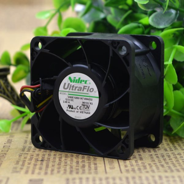 Original Nidec V60E12BS1A7-09A032 12V 2.45A 6CM server Cooling fan cooling fan