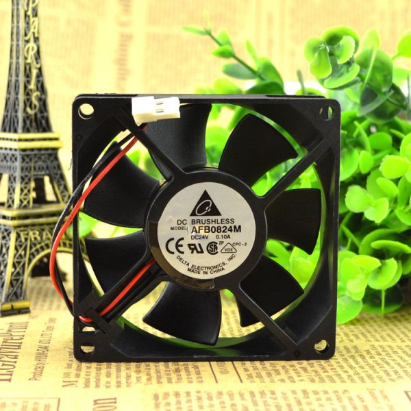 Original Delta 8025 8CM 24V0.1A AFB0824M 80 * 80 * 25mm silent fan IPC inverter fan