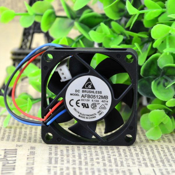 original delta AFB0512MB 6Z14 DC 12V 0.12A 5CM 50*50*15MM 5015 3-line axial cooling fan