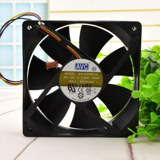 AVC DA12025B12L 12cm 120*120*25MM 12025 DC 12V 0.3A 4-Pin Speed control PC Case Cooling Fan