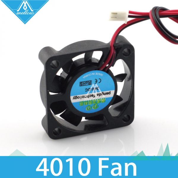 1pcs 3d printer small cooling fan cooling extruder special small fan 2 wire 4010 12V 24V two kinds